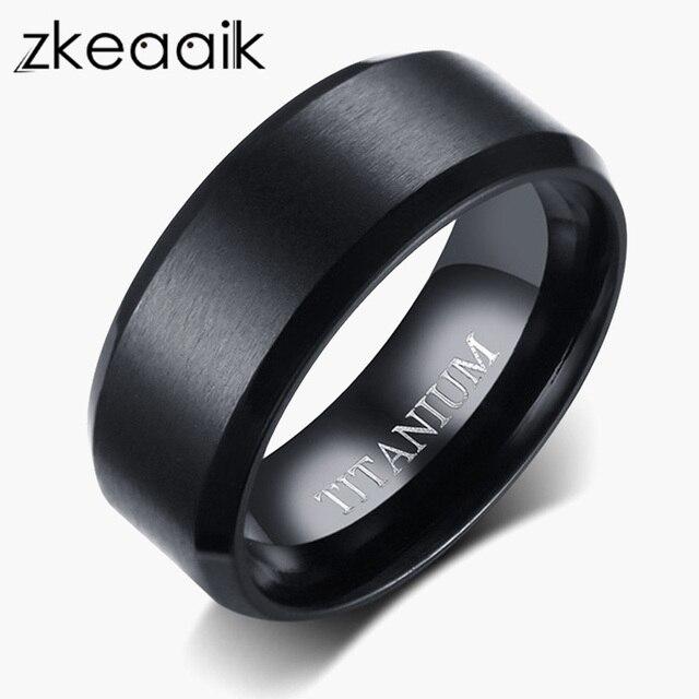 7237e67c073 2018 NEW Men 8mm fashion jewelry handmade mens black pure titanium rings  wedding bands rings alliance anel titan ringe
