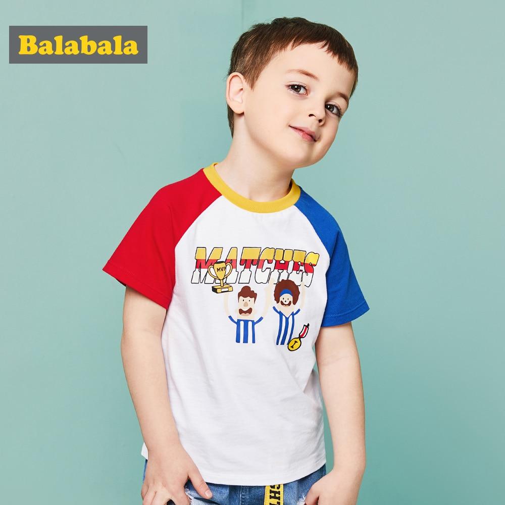BALABALA летняя футболка для мальчика Кубок мира рисунком детская хлопковая Футболка кор ...