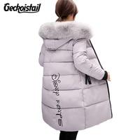 Geckoistail Warm Fur Fashion Hooded Quilted Coat Winter Jacket Women 2017 Zipper Down Cotton Parka Plus Size Slim Outwear T0923