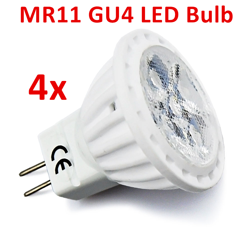 MR11 GU4 LED Bulb 4W 12V AC/DC Flood Light 35W Halogen Replacement Spotlight Landscape Recessed Track Light GU4 G4 Base 4pcs цена