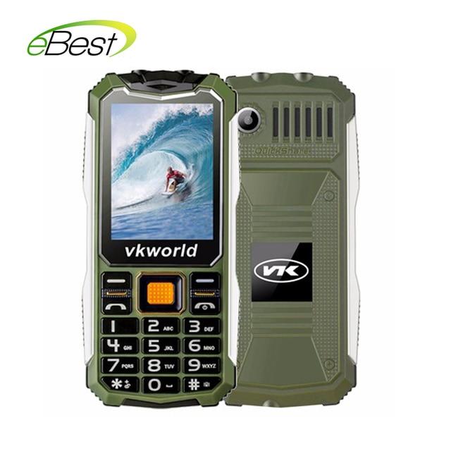 חדש הגעה VKworld אבן V3S IP67 עמיד למים Dustproof מחוסמת נייד טלפון בנק החשמל ארוך המתנה חיצוני צבא שני LED