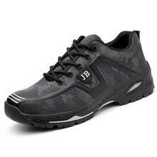 לנשימה בד חיצוני גברים תעשייתי בניית פלדה הבוהן לעבוד נעלי גברים נעלי בטיחות לנקב הוכחת משלוח חינם