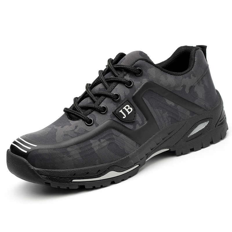 Erkek iş ayakkabıları hafif nefes açık botlar çelik ayakkabı burnu anti-piercing deodorantı güvenliği iş ayakkabısı hızlı gemi