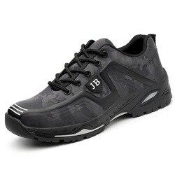 Zapatos de trabajo con puntera de acero y tela transpirable para hombre, zapatos de seguridad a prueba de perforaciones, envío gratis