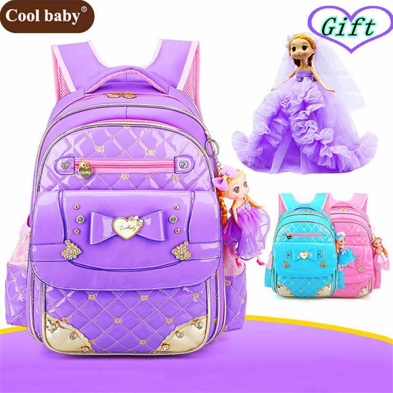 6f64219f1611 ... Coolbaby/школьные сумки для девочек, сумка из искусственной кожи, 2019  корейские детские школьные