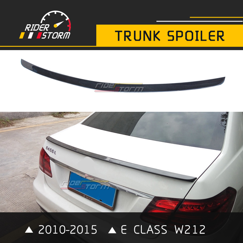 W212 Amg Spoiler With 3M Tape E Class Carbon Rear Trunk Tail Wing Bootlid Lip for Mercedes 4 Door Sedan E200 E250 2010-2015 amg style w205 carbon fiber rear trunk spoiler for mercedes benz w205 c180 c200 c220 c250 c300 c350 c400 c63 amg 2015 2017