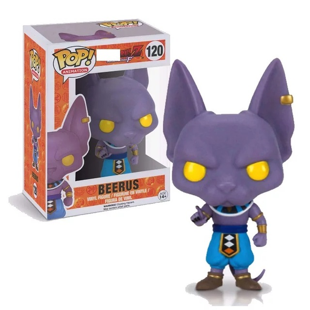 FUNKO POP Dragon Ball Z Beerus Model Toy PVC Action Figure Super Saiyan Vinyl Figure Doll Collection Toy  in box 1