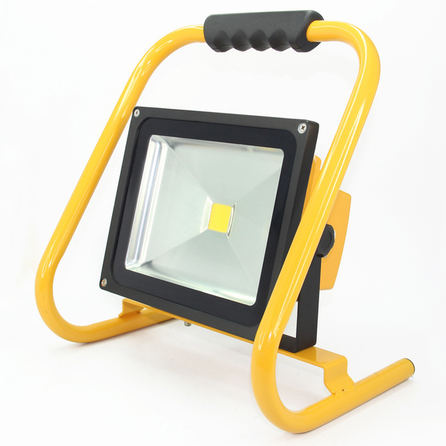 led reflector flood light rechargeable 30w portable led work light outdoor spotlight eclairage. Black Bedroom Furniture Sets. Home Design Ideas
