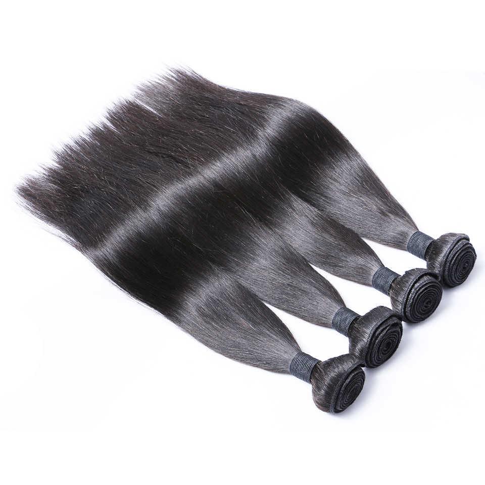 Бразильские прямые волосы пучок s натуральные человеческие волосы для наращивания один пучок Бесплатная доставка Brenda не Реми волосы толстые и полные