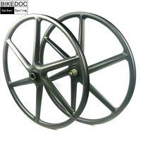BIKEDOC Chinese 29er Lefty Hub MTB Carbon Fiber Bike Wheels Tubeless Bicycle Wheelset Front Lefty 1.0 XD Wheel MTB 6 Spoke Wheel