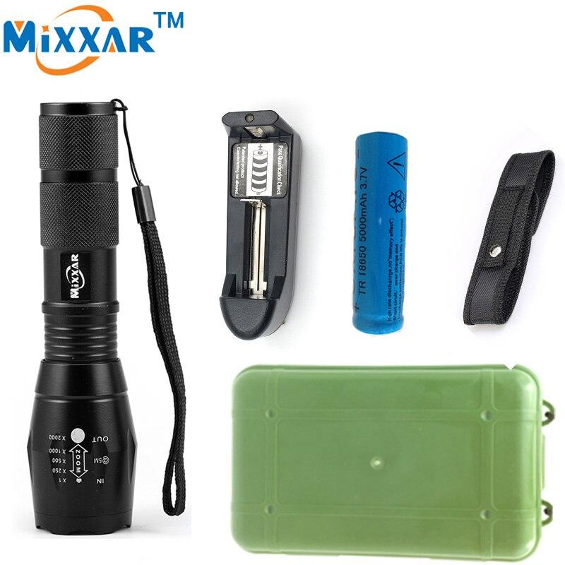 ZK40 Lanterna CREE XM-L2 8000LM Tactical Flashlight Torch Zoom Linternas LED Flashlight for3xAAA or1x 18650 Rechargeable Battery cree xm l2 8000 lumens lanterna x900 flashlight torch zoomable linternas led flashlight 3xaaa or 1x 18650 rechargeable battery
