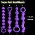 Brand New Anal Plug, Super Soft Silicone Anal Beads Butt Plug, Sex Toys for Men and Woman, Adult Erotic Toys, Sex Products