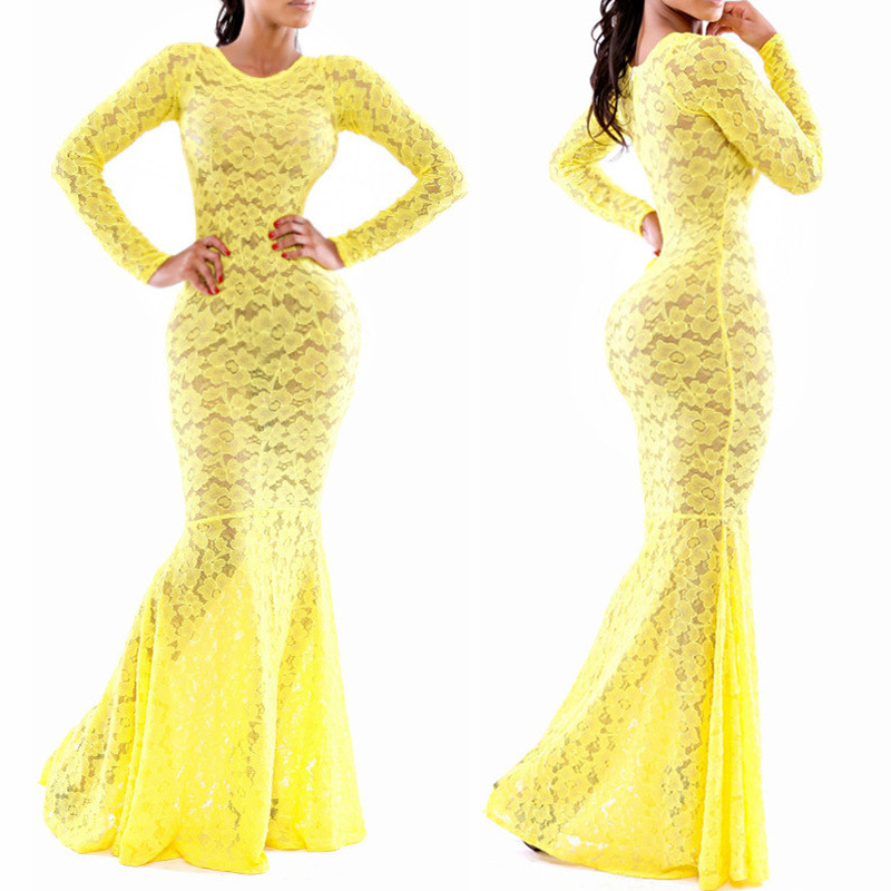 Yellow Sexy Maxi Dress