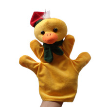 Stuffed plush Toy yellow duck hand puppet children baby Puppet toys Christmas gift duck wholesale