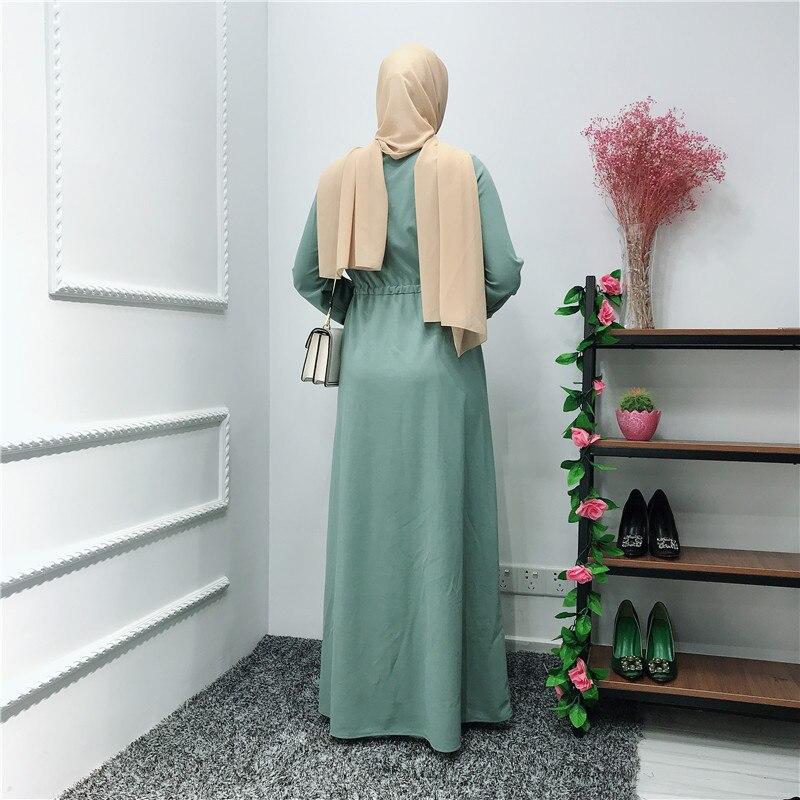 Muslim Striped Stitching Middle East Ramadan Dubai Arab Islamic Clothing Abaya Cardigan Maxi Dress Long Robe Gowns Tunic Kimono