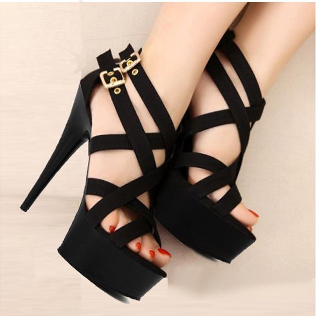 LAIJIANJINXIA 15cm sexy clubbing pole dancing high heels 6 inch Exotic  Dancer shoes Stiletto With Platform women gladiator shoes