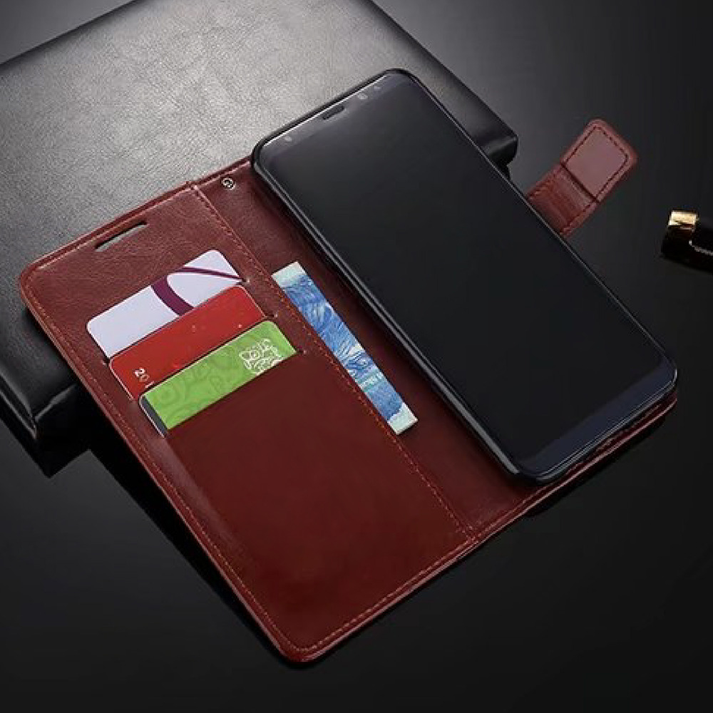 Flip Funda de cuero para teléfono con billetera de PU para Samsung - Accesorios y repuestos para celulares