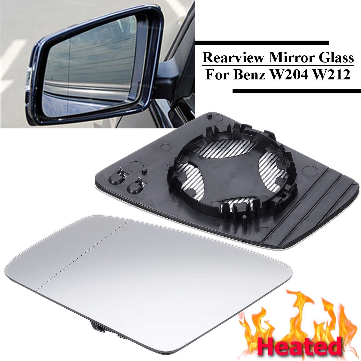 Mercedes ML W164 2009-2011 Left Passenger Side Door Mirror Glass Heated LH N//S