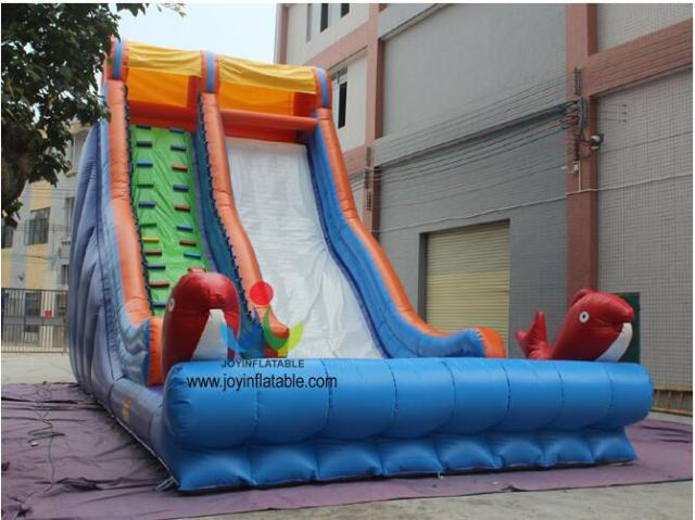 12X5M Backyard Inflatable Water Slides With Pool Swimming Pool Slide Water  Park Slides For Sale