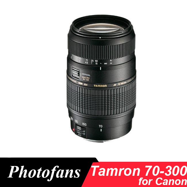 Tamrom 70-300 Objectif pour Canon 70-300mm f/4-5.6 Di LD 1:2 Macro Téléobjectif lentilles pour 650D 700D 750D 760D 1300D 70D 60D T5i T6 T6s