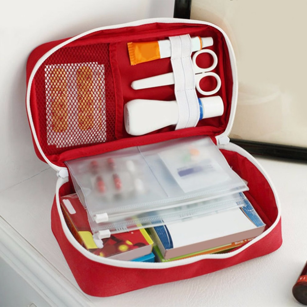 Portable Medium Empty Household Multi-Layer First Aid Kit Pouch Outdoor Car Bag First Aid Bag Survival Medine Travel Rescue Bag empty bag for travel medical kit outdoor emergency kit home first aid kit treatment pack camping mini survival bag