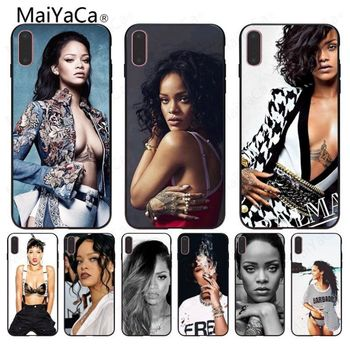 MaiYaCa For Rihanna wallpaper DIY Painted Beautiful Phone Case For iphone 6 6s 6plus 6S plus 7 7plus 8 8plus 5 5s 5C Case cover diy crop top