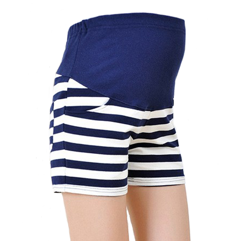 New Maternity High Waist Women Shorts for Spring Summer Striped Shorts Pregnant Women Short Trousers M/L/XL Panties YYT262 knot side striped shorts