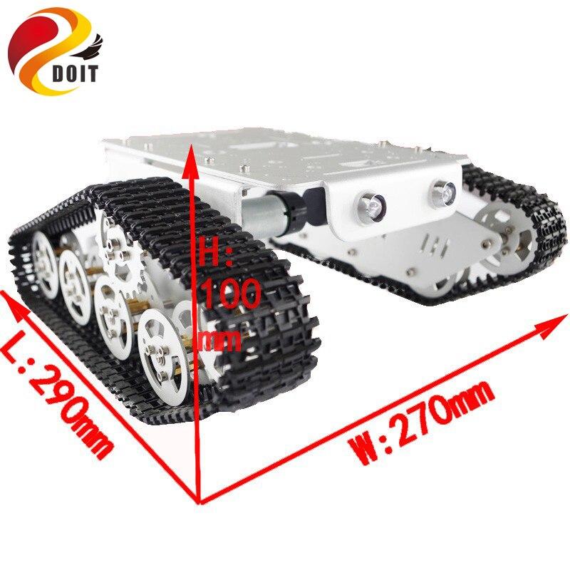 Arduino izləyən Caterpillar Track Zəncirvari Nəqliyyat - Uzaqdan idarə olunan oyuncaqlar - Fotoqrafiya 6