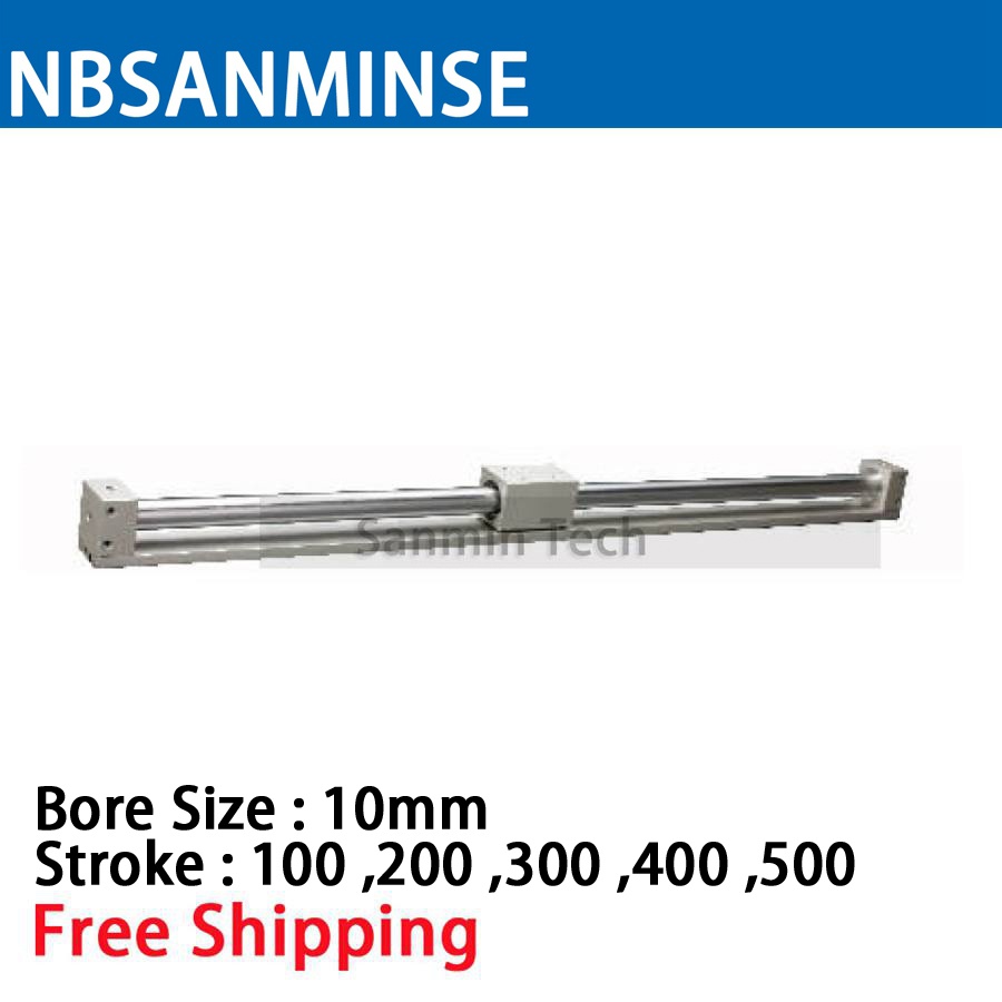 CY3R 10mm Bore Size Pneumatic Magnetically Coupled Rodless SMC Similar Parts Pneumatic Parts Compress Air Cylinder Sanmin cy1s 25mm bore air slide type cylinder pneumatic magnetically smc type compress air parts coupled rodless cylinder parts sanmin