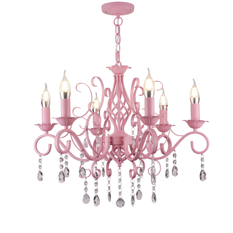 pendant dressing room pink chandelier Children room bedroom restaurant bedroom pastoral led Candle Chandelier Princess lampalas pink chandelier candle chandelier led candle chandelier - title=