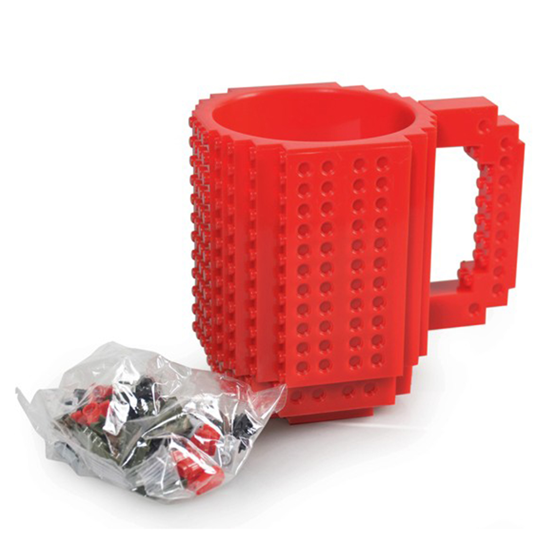 Build-On Brick Mug DIY Bulding Blocks Coffee Mugs 350 ml Creative Drinkware Free Shipping Mug Birthday Gifts Tazas ...