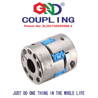 Zero backlash coupler GFJC aluminum alloy high rigidity jaw spider D95*L100 High rigidity plum shaped clamp series couplings