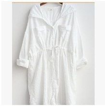 In the autumn of 2015, hot new products sales, the original design loose big yards of 100% cotton Ms. White shirt