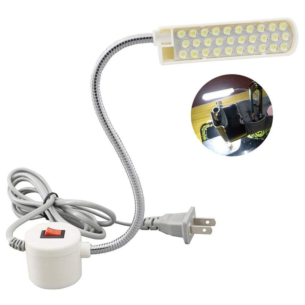 Süper parlak 10/20/30 LED DİKİŞ MAKİNESİ ışık ev çalışma ışığı manyetik montaj tabanı ile torna için, matkap presleri tezgah