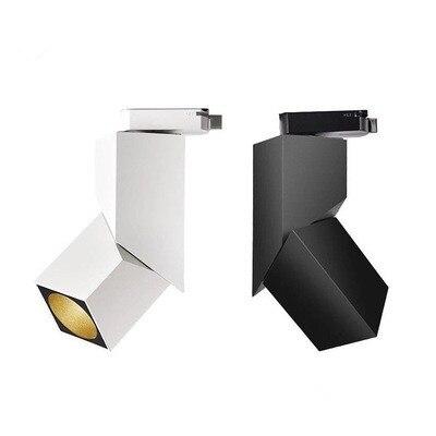 2018 nouveau cube d'art de mode 7 W 12 W 15 W CREE a mené l'éclairage de tache d'appareil d'éclairage de toile de fond de lampe de Rail d'angle réglable de lumière de voie
