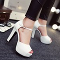 2016 new sexy high heels summer sandals women pumps peep toe platform shoes ivory wedding shoes women heels evening shoes