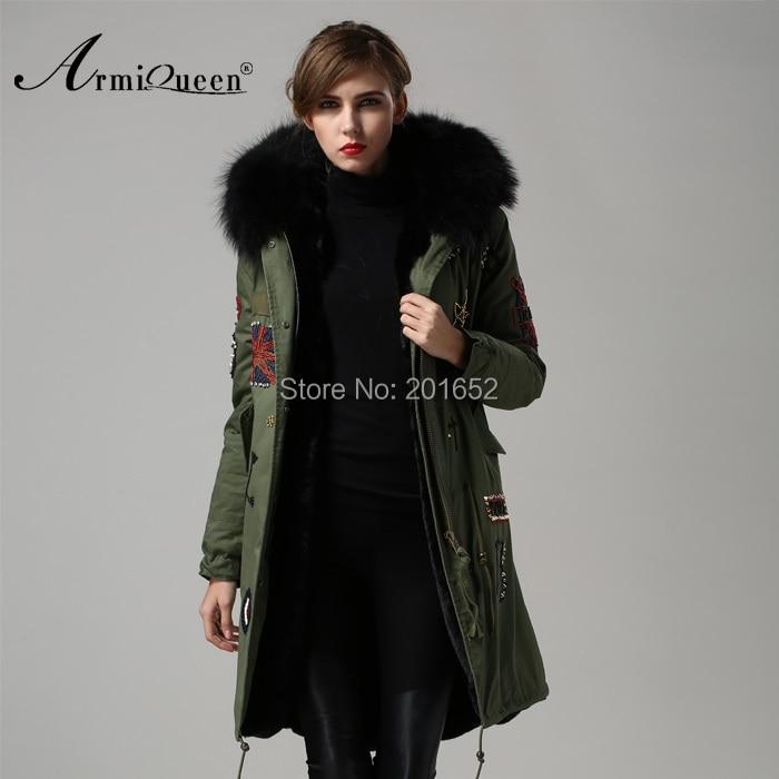 2015 New Womens coat thicken fur winter warm coats overcoat long jacket black faxu fur outwear mrs