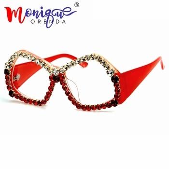 e48331101b Diseñador de la marca gafas de sol de las mujeres gafas de sol del ojo de  gato de lujo diamantes de imitación gafas polígono hombres gafas de sol  vintage ...