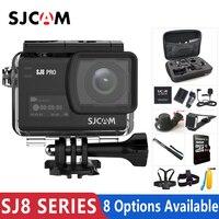 В наличии! Оригинальный SJCAM SJ8 серии SJ8 Air & SJ8 плюс и SJ8 Pro Экшн-камера 1290 P 4 к Wi Fi дистанционное управление водостойкий Спорт DV