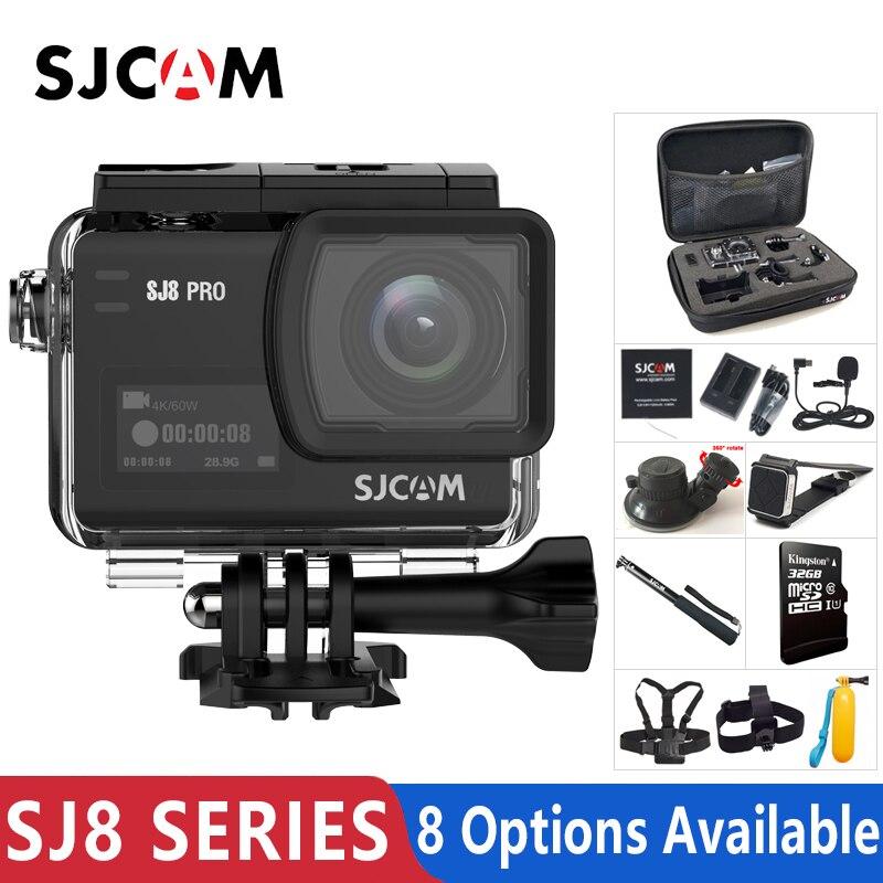 Em Estoque! Original SJCAM SJ8 Série SJ8 Air & SJ8 Plus & SJ8 Pro Action Camera 1290 P 4 K WI-FI Remoto controle À Prova D' Água Esportes DV