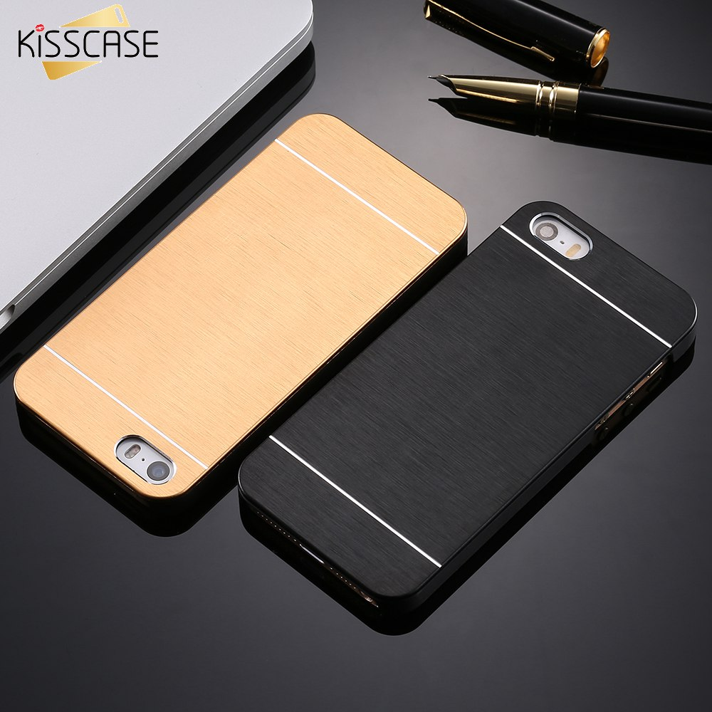 5s se hot luxury aluminum metal brush case for iphone 5 5s se phone coque capa hard back cover. Black Bedroom Furniture Sets. Home Design Ideas