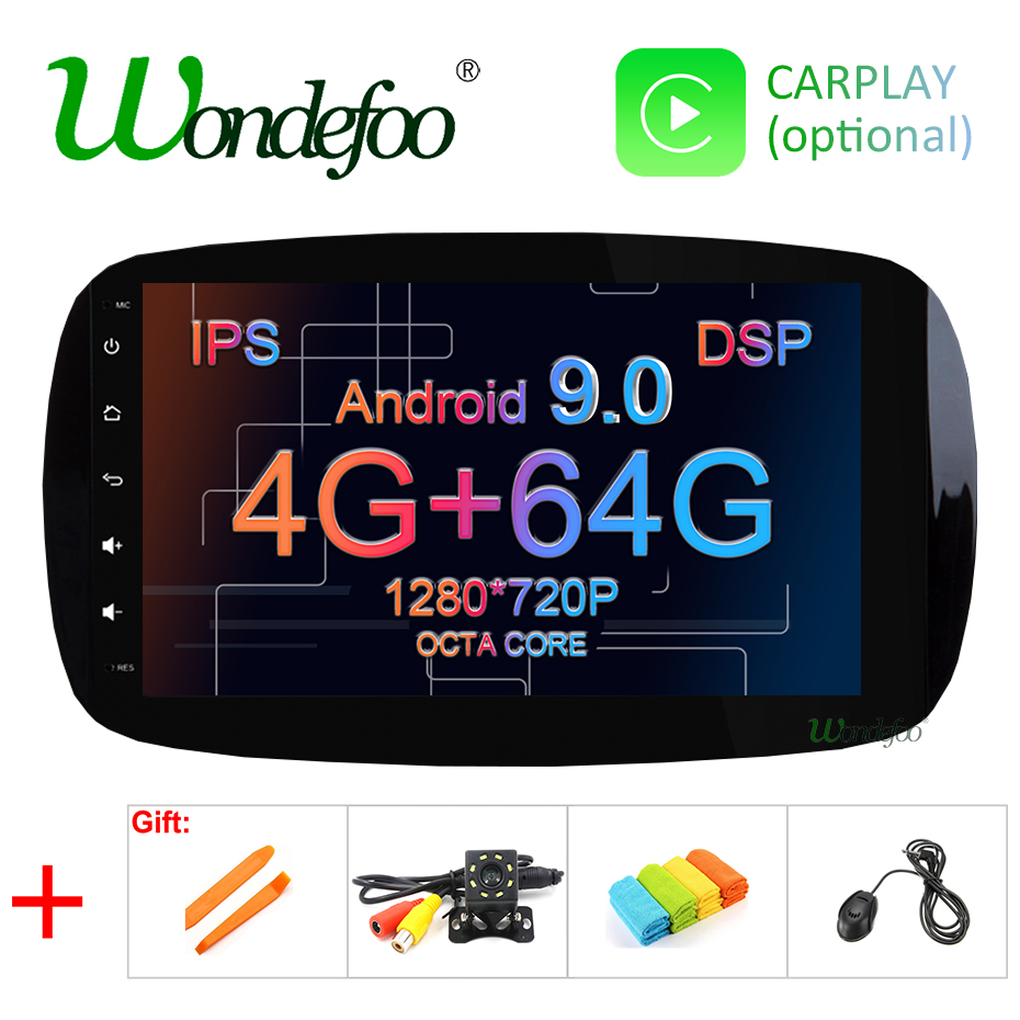 Android 9 0 4G RAM 64G ROM Car GPS radio For Mercedes Benz SMART 2016 multimedia
