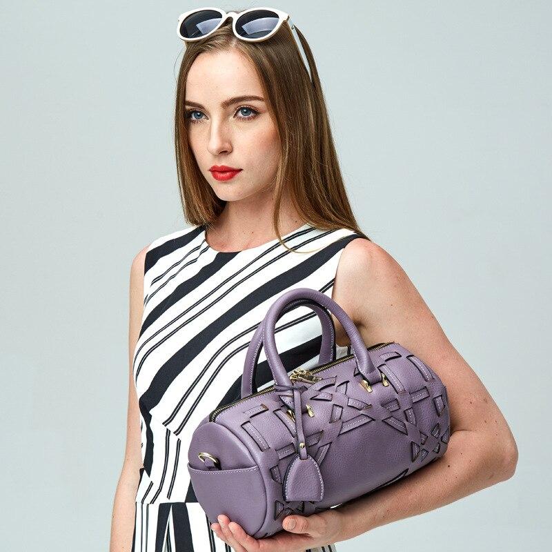 ФОТО Lovakia Genuine Leather Ladies Hand Bags Women Handbag Shoulder Bag Pillow Hign Quality Designer Luxury Brand Bag