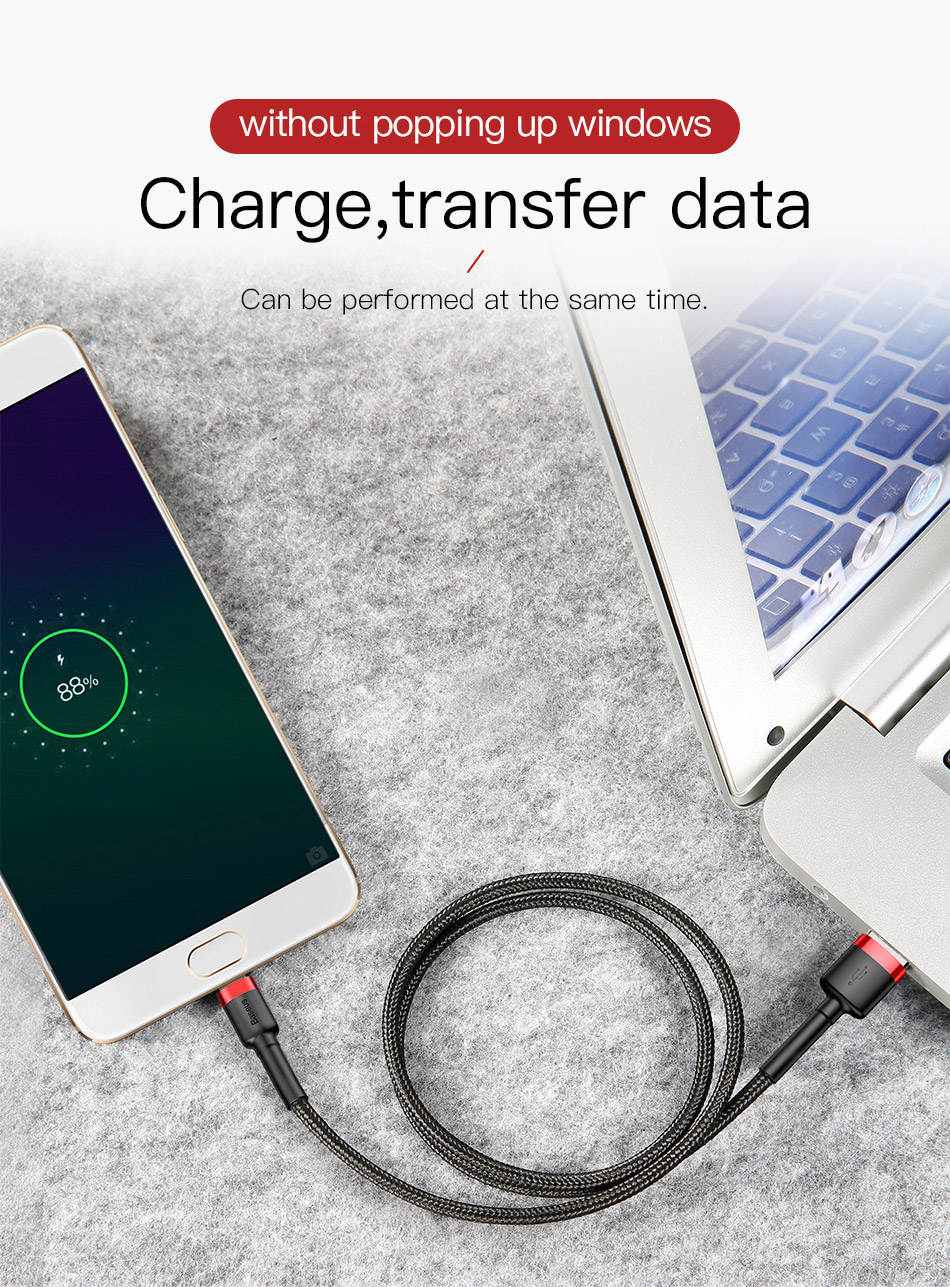 Baseus Micro-USB Fast-Charging Data Reversible-Cable