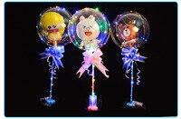 Customized Round Bobo Balloons with 3M Led Strip Wire Luminous Globos Unicorn Foil Wedding Decoration Birthday Party Toy