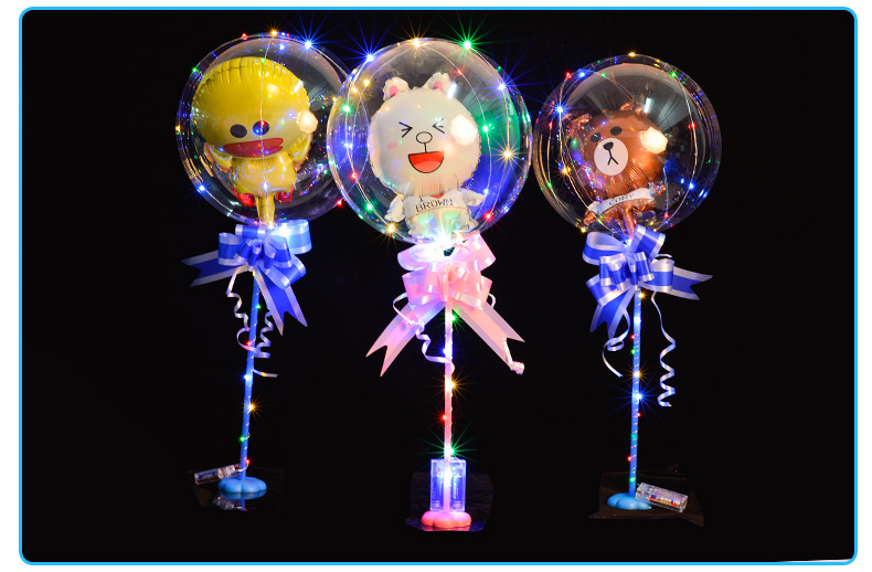 Globos Bobo redondos personalizados con 3M Alambre de tira Led Globos luminosos papel de unicornio decoración de boda fiesta de cumpleaños juguete