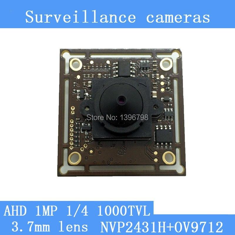 1MP 1/4 CMOS NVP2431H + AR9712 chip 1280 * 720 AHD 1000TVL CCTV surveillance cameras Module night vision 3.7mm pinhole lens brand new dmd chip 1280 6038b 1280 6039b 1280 6138b 6139b 6338b
