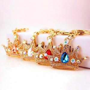 Pompom Keychain Rhinestone Heart Women's Bags Key Ring Handmade Accrssories Keychains Pendants Charming Suspension Decoration(China)