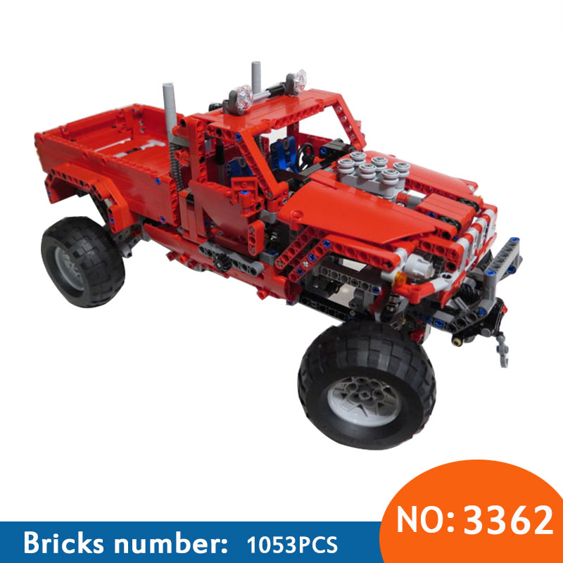 цена на New 3362 Customised Pick-Up Truck Truck Building Block Bricks Toy Boy Game Model Car DIY Gift Compatible with 42029