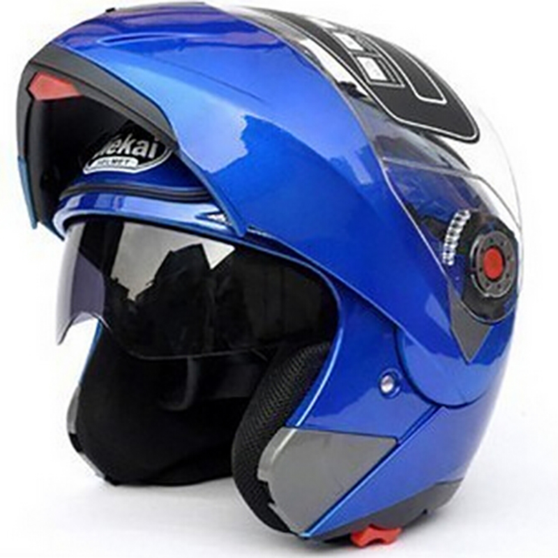 Safety Motorcycle Flip Up Helmet moto helmet motorbike With Inner Sun Visor Helmet JIEKAI 105 DOT ECE-in Helmets from Automobiles & Motorcycles    3